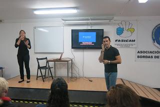 Charla en la Asociación de Personas Sordas de Gran Canaria